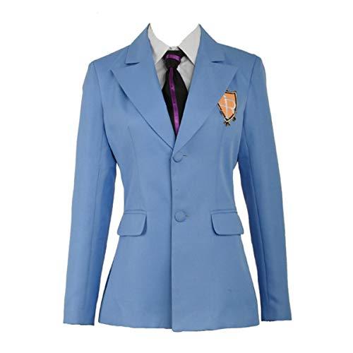 Yejue Ouran High School Host Club School Uniform Haruhi Kyoya Hikaru Takashi Outfit Unisex Cosplay Costume(Female X-Large,Jacket Tie)