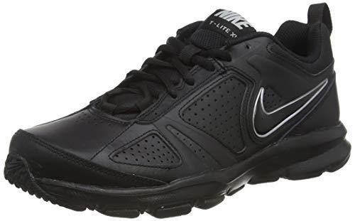 Nike T-Lite XI, Scarpe da Ginnastica Uomo, Nero (Black/Black-Metallic Silver), 43 EU (8.5 UK)