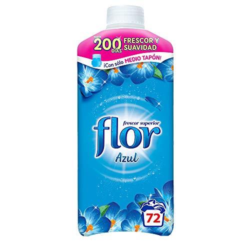 Flor - Suavizante para la ropa concentrado, aroma azul - 72 dosis
