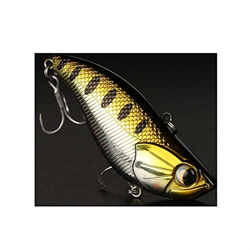 XDQ A Pair Hard-Type Fish-Shaped Fake Lure Baits with Hooks, Lifelike Vibration Fake Swimbaits, Artificial Fake Bait for Freshwater Saltwater (Color : C, Size : 27G/7.0CM)