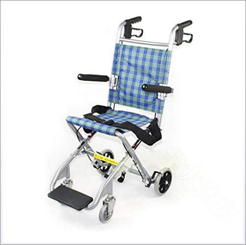 WZB - Wheelchair Leichter Faltbarer Rollstuhl, Aluminiumreiserollstuhl, Fahren Medizinisch, Ältere Behinderte