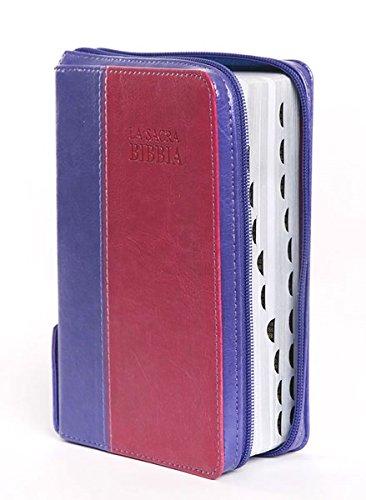 La Sacra Bibbia viola rosa 171.275 con rubrica e cerniera