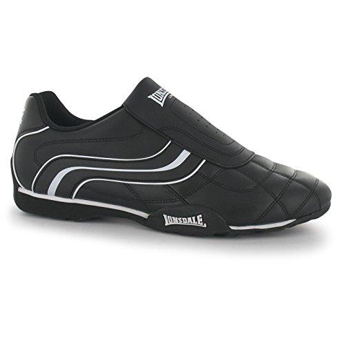 Lonsdale Herren Schuhe Turnschuhe Laufschuhe Sneakers Trainers Camden Slip (44, Schwarz/Weiß)