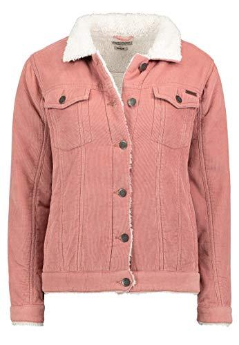 Eight2Nine Warme Damen Cord-Jacke mit Kunstfell gefüttert Rose L