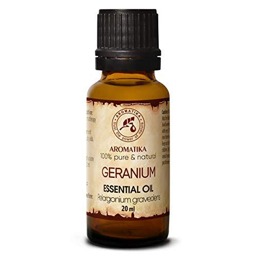 Huile Essentielle de Géranium 20ml Bourbon- 100% Naturelle - pour un Bon Sommeil - Soulagement du Stress - Beauté - Soin du Corps - Bien-Être - Aromat