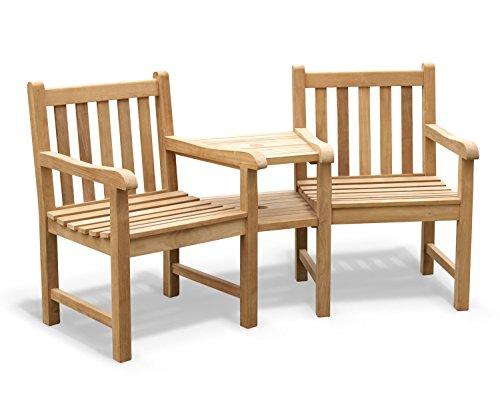 Jati York Teak Love Seat - Tete a Tete Companion Bench Brand, Quality & Value