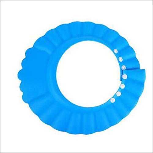 ZengBuks Sichere Shampoo-Schutzkappe für Baby-Wäsche-Haar-Schild-Kinder, die Duschhut - Blau baden