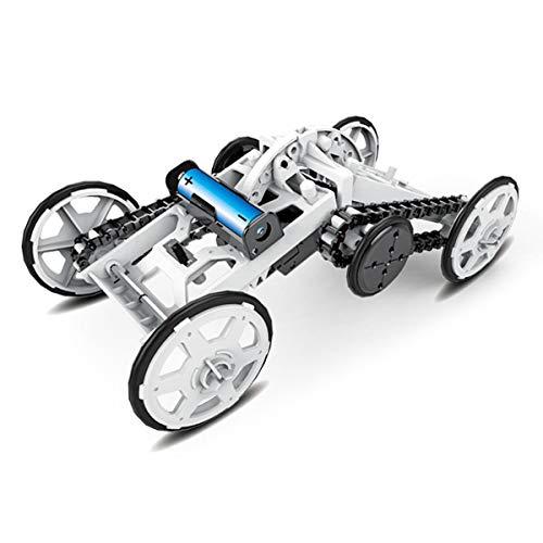 MKZDGM Stem 4WD Coche DIY Vehículo de Escalada Auto de Motor Coche Educativo Coche de Ingeniería para Niños, Juguete de Regalo de Montaje Proyectos de Construcción de Circuitos Experimento Científico
