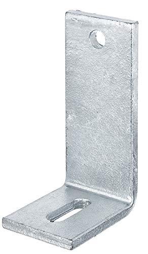 GAH-Alberts - Pletina de ángulo recto para hormigón (con agujero alargado, galvanizado en...