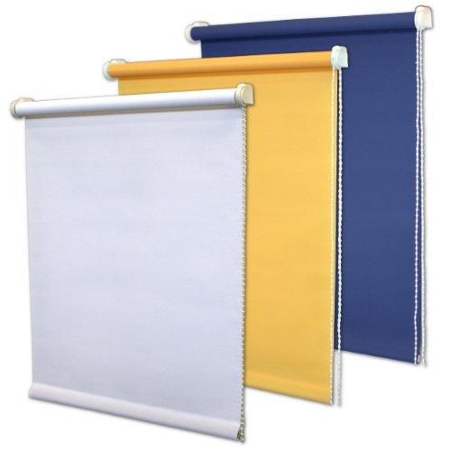 Rollo, Seitenzug, Lichtschutz, Blickdicht, Jalousie Plissee (Tageslicht – Marine blau, 60 x 175 cm BxH)