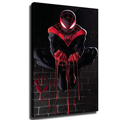 YuHui Spider-Man - Póster de lienzo y pared, diseño de Spider-Man, Enmarcado, 20x28inch