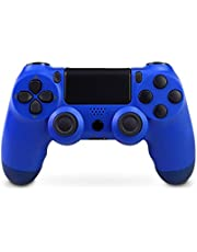 Controller PS4, Controller Wireless per PlayStation 4 / Pro / Slim, Controller di Gioco Wireless con Doppia Shock,Funzione di vibrazione, Joystick a Sei-Assi con TouchPad e Jack Audio (Blue)
