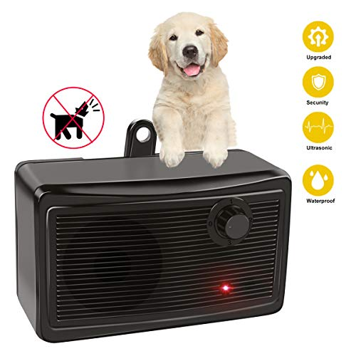 GOTSEVEN Bark Control Device, Upgraded Mini Bark Control Device Outdoor Anti Barking Ultrasonic Dog Bark Control Sonic Bark Deterrents Silencer Stop Barking Anti Barking Device