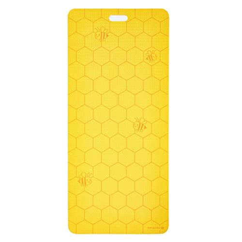 MERRITHEW Kids Yoga and Exercise Mat, Bee Happy (Yellow) 0.15 inch / 4 mm