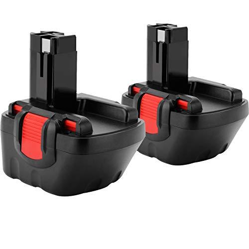 2X Shentec 12V 4.5Ah Ni-MH Batería para Bosch BAT043 BAT045 BAT120 BAT139 2607335542 2607335526 2607335274 2607335709 para Bosch GSR 12-2 12VE-2 PSR 12 GSB 12VE-2 22612 23612 32612
