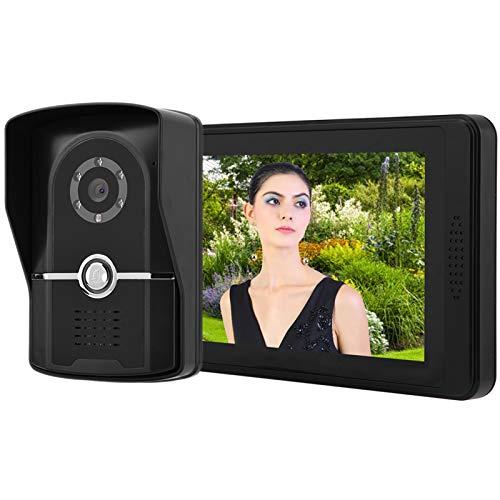 Timbre para videoportero Doorbell 7 Pulgadas LCD LCD Video Portátil Teléfono Intercomunicador Puerta De Puerta Aplicación Sistema De Entrada De Desbloqueo Remoto Sistema De Entrada Interior Para Ofici