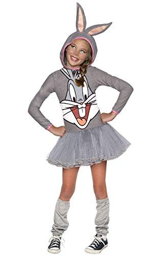 Looney Tunes Bugs Bunny Girls Hooded Costume, Child's Medium