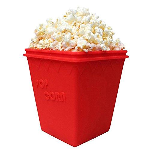 IshowStore Mikrowellen-Popcorn-Behälter aus Silikon für Maiskolben und Mikrowellen