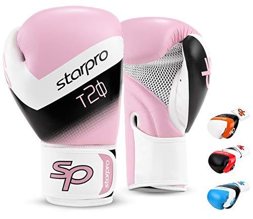 Starpro Niño T20 Guantes de boxeo | Cuero PU | Azul Rosa...