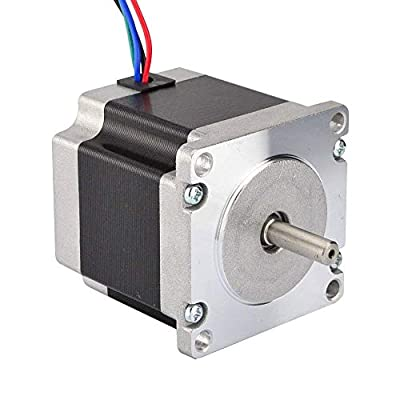 JoyNano Nema 23 Stepper Motor Bipolar 2.8A 1.26N.m Holding Torque 2-Phase 4-Wire 1.8 Deg 56mm Body for 3D Printer or CNC Machine