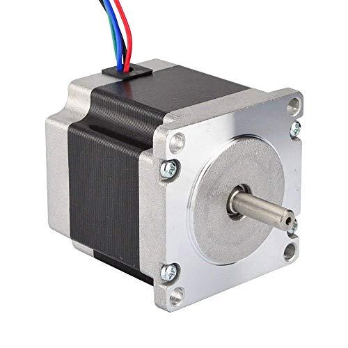 JoyNano Nema 23 Stepper Motor Bipolar 2.8A 1.26N.m Holding Torque 2-Phase 4-Wire 1.8 Deg 56mm Corpo per stampante 3D o macchina CNC