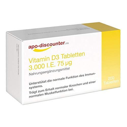 Vitamin D3 Tabletten 3000 200 stk