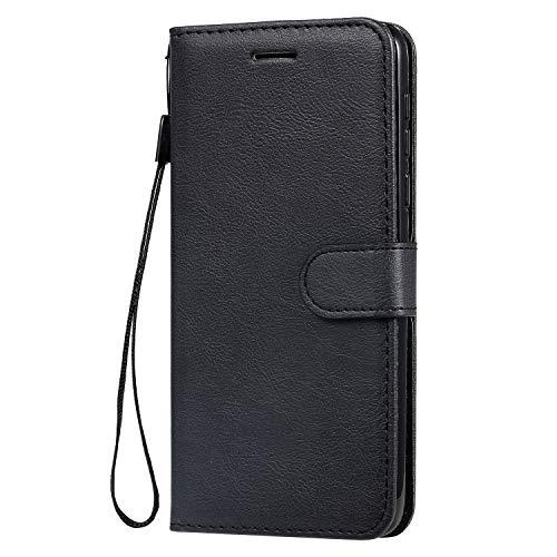 Tosim Motorola Moto G8 Play ケース 手帳型 カード収納 高級PUレザー スタンド機能 マグネット モトローラG8Play 財布型 ケース スマホケース 全面保護 衝撃吸収 スマホカバー - TOKTU100554 黒