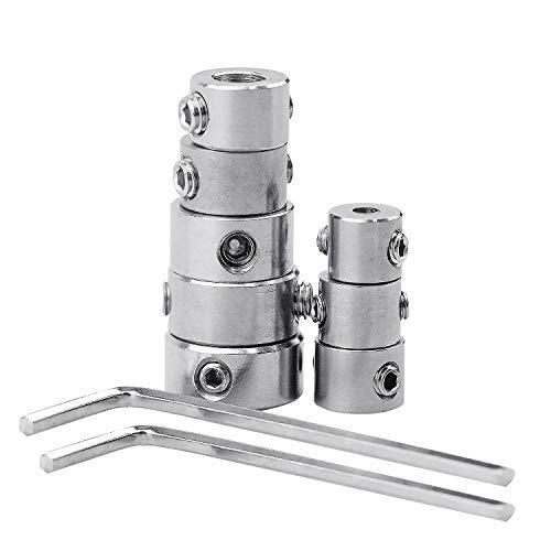 NATEE 3-10mm Tiefenanschlagringe Set, 8 PCS Stellungsregler Ring Tiefenbegrenzer Bohrer Ring Tiefenstop mit Sechskantschlüssel für Bohrer Holzbearbeitung