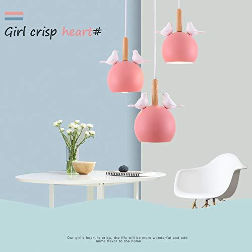 Aione E27 Nordic Retro Ball Habitaciones para el baño Guardarropa Candelabros de Vidrio Exfoliante Recibo de Comprometido El niño Araña,Pink,Long