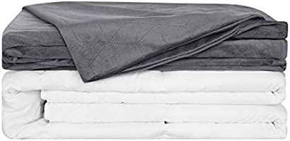 Deconovo Heavy Weighted Blanket with Removable Duvet Cover for Adult Filled with Premium Soft Micro Glass Beads Queen...