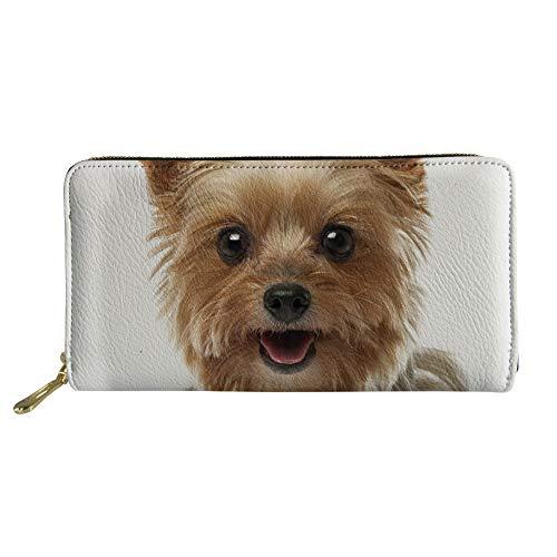 Nopersonality Carteras de tarjeta de crédito para mujeres niños bolso divertido estampado animal, 03 Yorkshire Terrier impreso (Marrón) - .