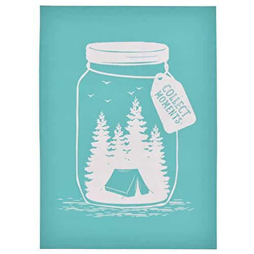 CHZIMADE Selbstklebende Siebdruck-Schablone für Taschen, T-Shirts, Papier und Heimdekoration Grün 3#