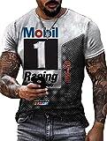Camiseta Retro de Aceite de Motor para Hombre, Camisetas de Manga Corta Informales de Verano con Estampado de Letras a la Moda, Camisetas de Motociclista para Motociclista