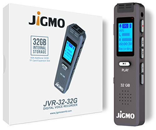 32GB Dictaphone Voice Recorder with 180 Hour Battery - Expandable to 64GB -...
