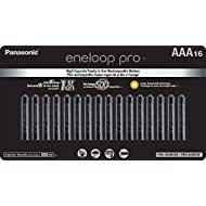 Panasonic BK-4HCCA16FA eneloop pro AAA High Capacity Ni-MH Pre-Charged Rechargeable Batteries, 16 Pack