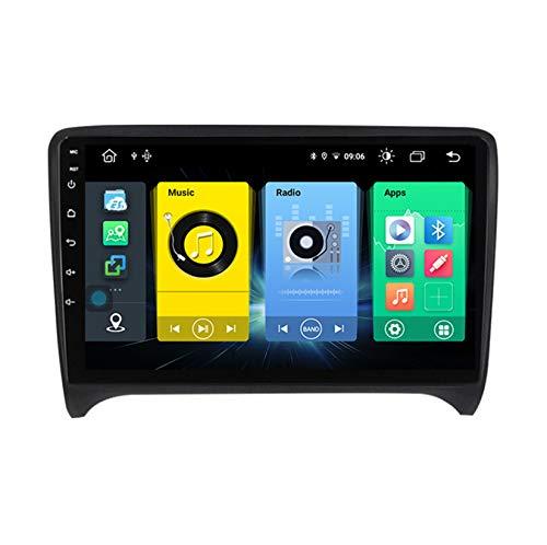 HARBERIDE Android Car Stereo Radio De Coche 9 Pulgadas Unidad Principal Reproductor Multimedia Receptor De Video Carplay para Audi TT MK2 8J 2006-2014 Autoradio Mit Navi,C600