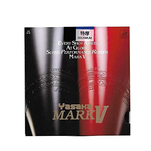 Yasaka Mark V Maximum - Juego de 2 tenis de mesa (goma, 2 unidades), color rojo y negro