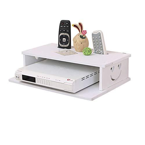 AAFF Shelf TV-Schrank Set-Top-Box Gestell, Wand-Boxen Wohnzimmer Wand Hintergrund, Schlafzimmer Wand-Trennwände Router Kamera Game Box Fernbedienung