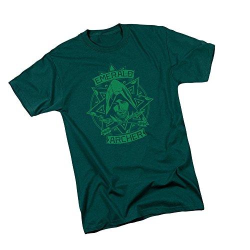Archer Illustration - CW's Arrow TV Show Adult T-Shirt, Large Green