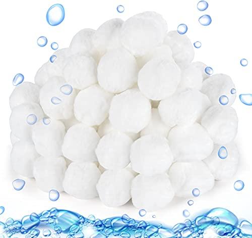 Mocraft Filterballs für Sandfilteranlagen, 800g Filterbälle für Schwimmbad Filter Balls, Kann 28 kg Filtersand Ersetzen, Geeignet für Pool Filter Schwimmbad Filteranlage