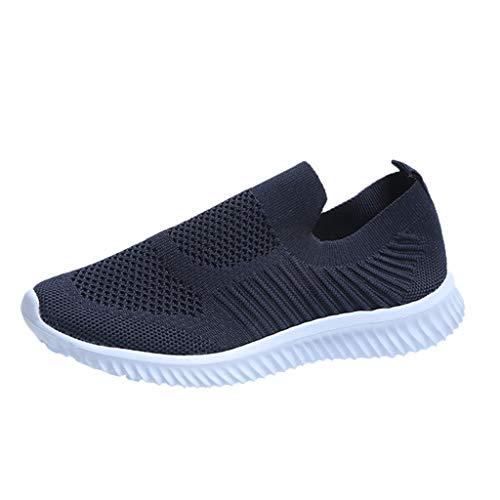 Zapatillas de Seguridad Mujer,Zapatos de Trabajo Suave y cómodo Transpirable Antideslizante Malla Verano Negro Rosa 37-43EU 0206