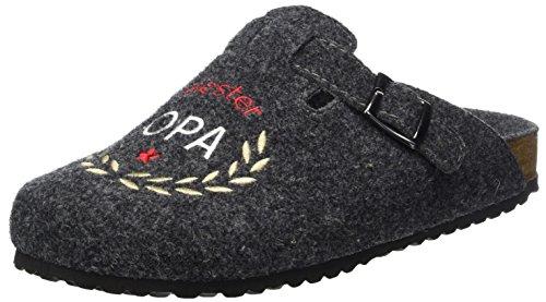 Supersoft Herren 511 077 Pantoffeln, Grau (Dk. Grey), 41 EU