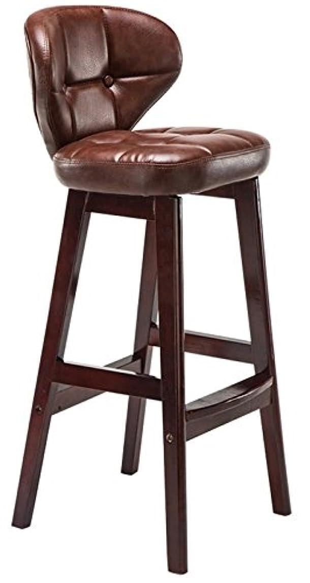 寛大な消去未亡人MIRAIS 木製 インテリア スツール カウンターチェアー 椅子 おしゃれ (Sサイズ ブラウン) MR-CAFSTOOL-S-BR