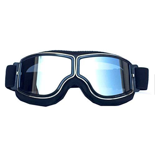 Blisfille Gafas Hombre Nieve Gafas de Hombre Aviador,Negro Plata
