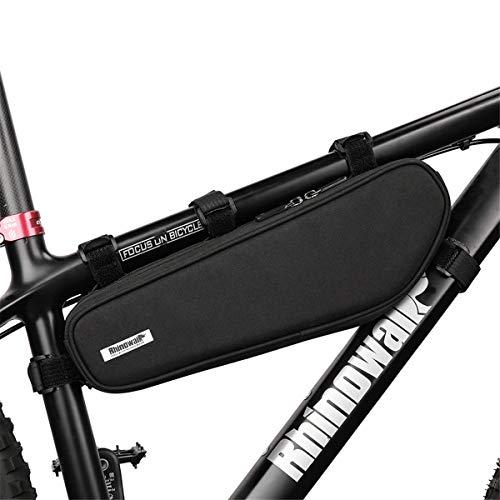 Rhinowalk Borsa Bici,Borsa Triangolare da Bicicletta Telaio 100% Impermeabile Borsa Frontal Sacchetto per Casual/Trekking/MTB/Mountain Biking, 2,5L (Nero)
