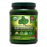 Organic Vegan Protein Powder - Great Tasting Chocolate Flavor W/ 24g of Protein -100% Organic Plant...