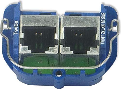 Homeway Modul TWM1 TwiGa LAN/LAN 10GbE Einsatz/Abdeckung für Kommunikationstechnik 4250679716122
