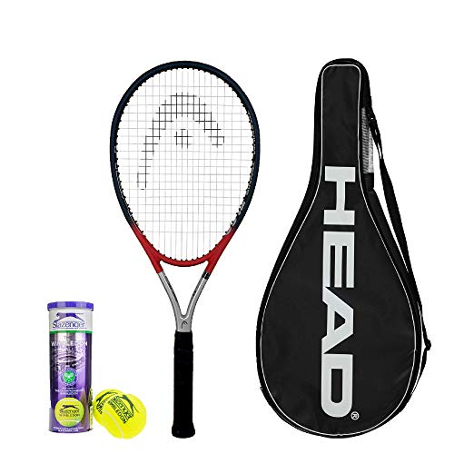 Head Ti S2 Titan-Tennisschläger inkl. Hülle und 3 Slazenger Wimbledon Tennisbällen – Grip L1 bis L5 erhältlich, L4 (4 1/2)