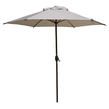 Abba Patio 9ft Patio Umbrella Outdoor Umbrella Patio Market Table Umbrella with Push Button Tilt and Crank for Garden, Lawn, Deck, Backyard & Pool, Cream