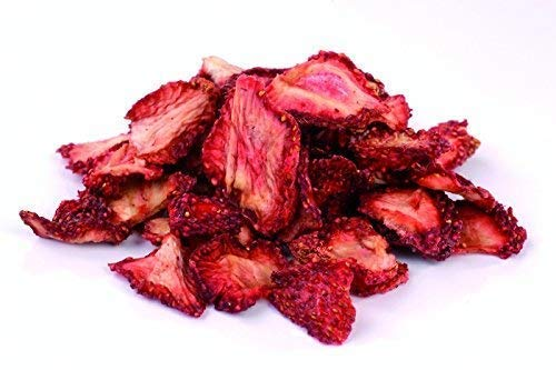 Fresas secas ecológicas 200g Fairtrade de Comercio Justo, rebanadas y piezas, deshidratados, sin azucar añadido, orgánicas, 100% fruta natural, crudos secado al sol (no liofilizado) Bio